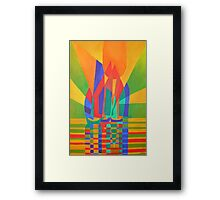Dreamboat - Cubist Junk In Primary Colors Framed Print