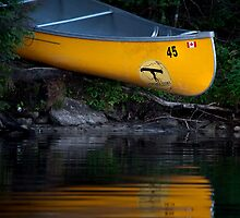 Yellow Canoe by Laura Sanders