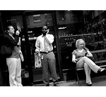 Having a Smoke at Lunch Time Photographic Print