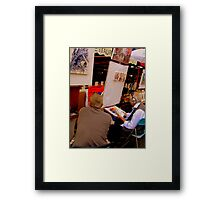 Two artists chatting in Montmartre! Framed Print