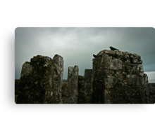 Moody Castle Canvas Print