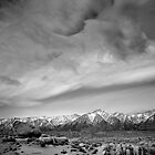 Boulders and Sky in BW by Chris Whitney