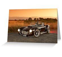 Black 1965 Shelby Cobra 427 Replica Greeting Card