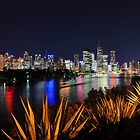 Brisbane River &amp; City At Night. Queensland, Australia. by Ralph de Zilva