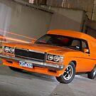 Orange Holden Sandman Panel Van by John Jovic