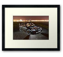 Black Subaru WRX Framed Print