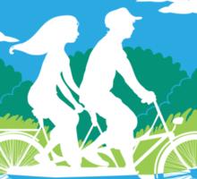 Tandem Bike Trip Sticker
