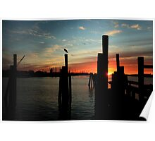 morning silhouettes Poster