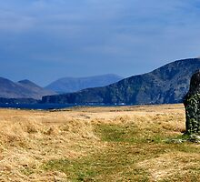 Stone Cross on Valentia Island by Stefan Schnebelt
