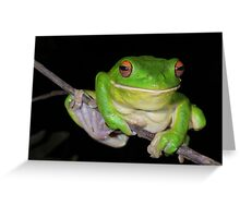 Sending You a Smile - White-Lipped Tree Frog Greeting Card