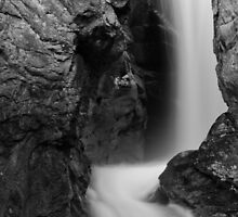 Chasm Falls in B&W - Rocky Mountain National Park, Colorado by Teresa Smith