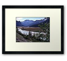 Beauty Creek Flatlands Framed Print
