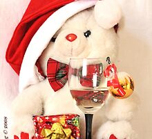 Mr Teddy Bear celebrates Christmas by pogomcl