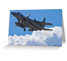 F-15 Strike Eagle coming home Greeting Card