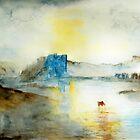 NORHAM CASTLE SUNRISE by ANNETTE HAGGER