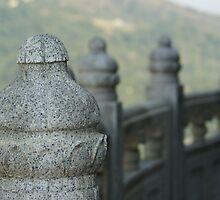 Sentinels - Po Lin Monastery, Hong Kong by Trevor Hadley