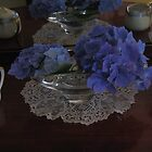 Hydrangeas and Lace by Pat Yager