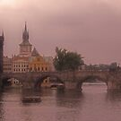 The Charles Bridge in Prague With Dreamy Setting by sceneryphotosto