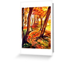 Autumn Forest - Trees Greeting Card