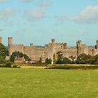 Caernarfon Castle, Snowdonia National Park, North Wales by AnnDixon