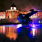 Colors of Trafalgar Square - London national Gallery by DavidGutierrez