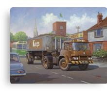 Bedford KM tipper. Canvas Print