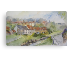 Sandsend Cottages, nr Whitby Canvas Print