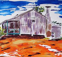 Outback Homestead by gillsart
