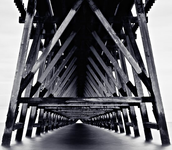 Under The Pier - Monotone by David Lewins LRPS