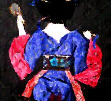 Geisha Asami (麻美) experimental processed photograph by patjila