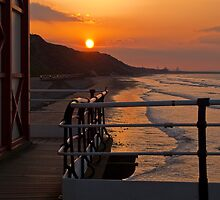 Saltburn Sunset from the pier by blueyesdragon