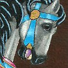 Grey Carousel Horse by Brenda Scott