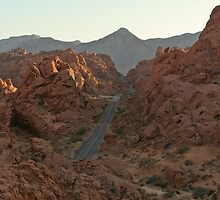 Mountain drive in Valley of Fire State Park, Nevada by Henry Plumley