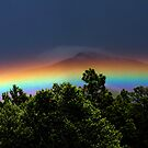 Rainbow over Lama, New Mexico by CheyAnne Sexton