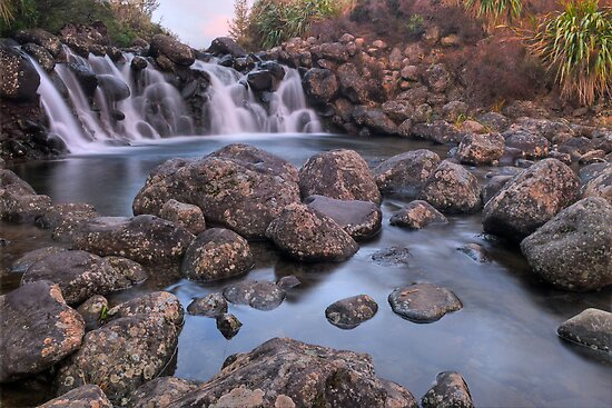 Waterfall Sunset by Paul Mercer