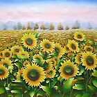 Sun Flower  Oil Painting from Doupine [HS0133] by yelia0722