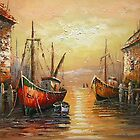 Venice River  Oil Painting from Doupine [HS0174] by yelia0722