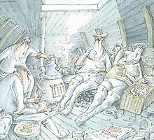 Below deck by Alan  Castleton