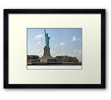 NY, my love-# 10  Our Lady of the Harbor Framed Print