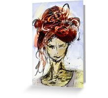 abstract portrait #1 Greeting Card