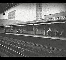 New Yorkers waiting on the train by ShellyKay