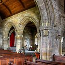 Inside Culross Abbey Church by Tom Gomez