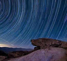 Star trails above borrego springs by Daniel Barr
