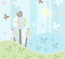 Floral creative background by Olga Altunina