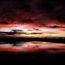Sunset Reflection Panorama | Hay NSW by vanderson