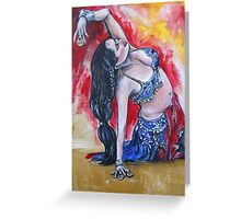 Goddess of Belly Dance  Greeting Card