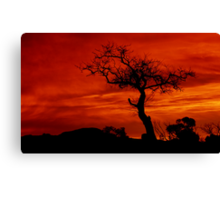 """Silhouettes at Sunrise"" Canvas Print"