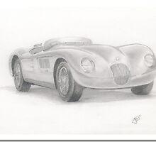 C Type Jaguar by Jack Froelich