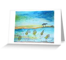A day at the beach.. Greeting Card
