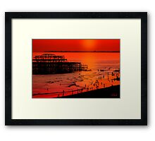 Brighton Sunset Framed Print